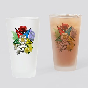 OES Floral Emblem Drinking Glass
