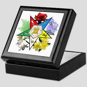 OES Floral Emblem Keepsake Box