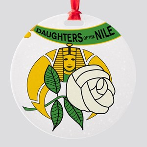 Daughters of the Nile frame Round Ornament
