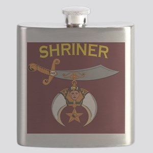 SHRINER round car magnet Flask