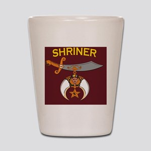 SHRINER round car magnet Shot Glass