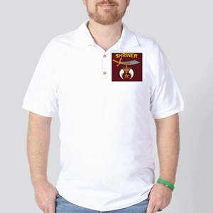 SHRINER round car magnet Golf Shirt