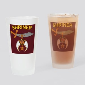 SHRINER round car magnet Drinking Glass