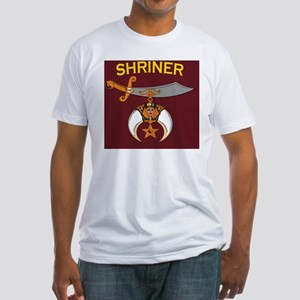 SHRINER round car magnet Fitted T-Shirt