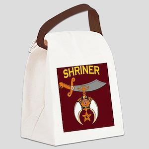 SHRINER round car magnet Canvas Lunch Bag