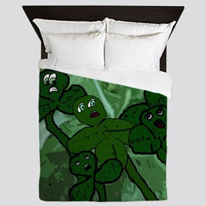 For She Was a Four Leaf Clover Queen Duvet