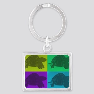 Angel Turtles Larger Landscape Keychain