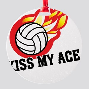 Kiss My Ace Round Ornament