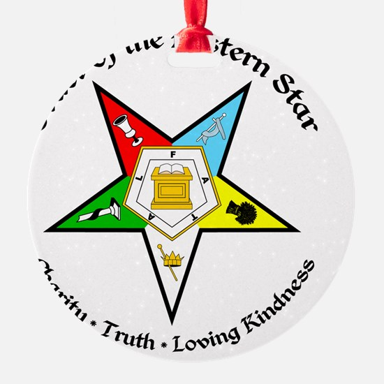 OES Charity Truth Loving Kindness Ornament