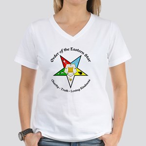 OES Charity Truth Loving Ki Women's V-Neck T-Shirt