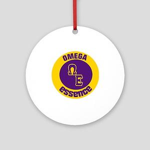 Omega Essence Oval Round Ornament