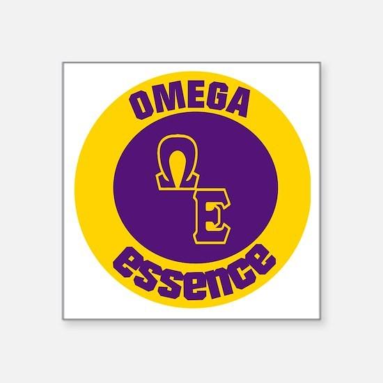 "Omega Essence Oval Square Sticker 3"" x 3"""
