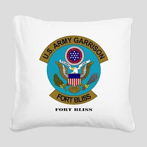 FortBlisstext Square Canvas Pillow
