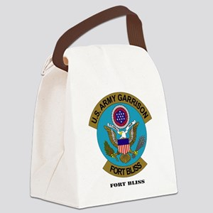 FortBlisstext Canvas Lunch Bag