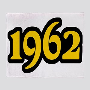 1962 Black and Gold Throw Blanket