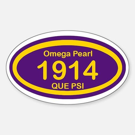 Omega Pearl 1914 Oval Sticker (Oval)