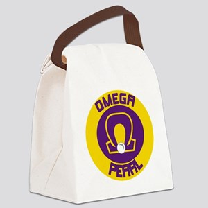 Omega Pearl Oval Canvas Lunch Bag