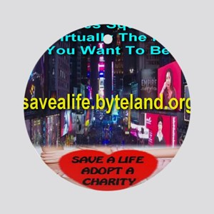 Save A Life Adopt A Charity Times S Round Ornament