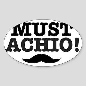 MUSTACHIO Sticker (Oval)