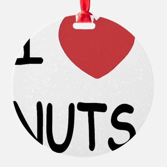 I heart nuts Ornament