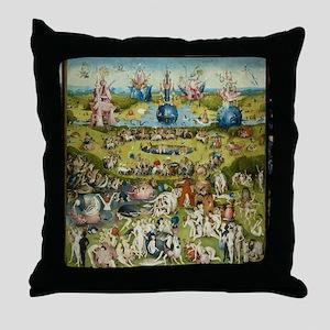 Hieronymus Bosch Garden Of Earthly De Throw Pillow