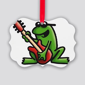 frog and roll Picture Ornament