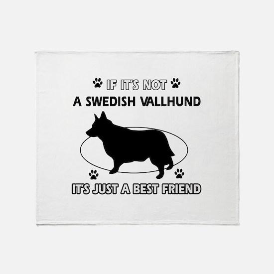 Swedish vallhund designs Throw Blanket