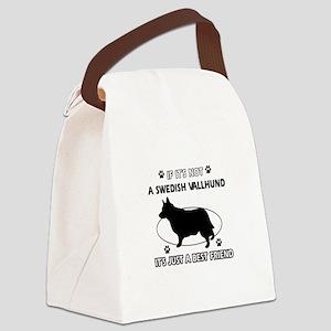 Swedish vallhund designs Canvas Lunch Bag