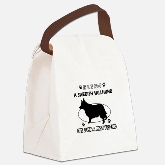Swedish vallhund designs Canvas Lunch Bag