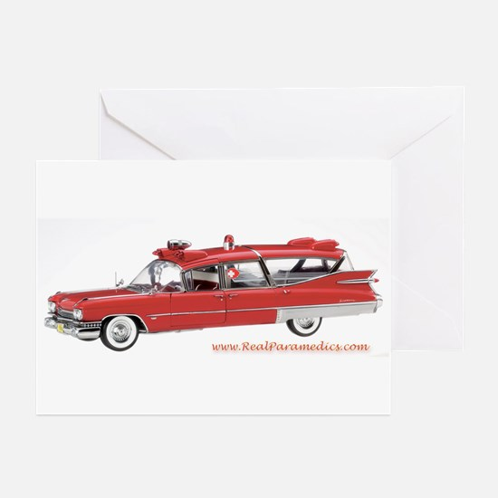 Old Red Ambulance Greeting Cards (Pk of 10)