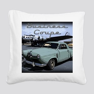 Business Coupe Square Canvas Pillow