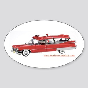 Old Red Ambulance Oval Sticker