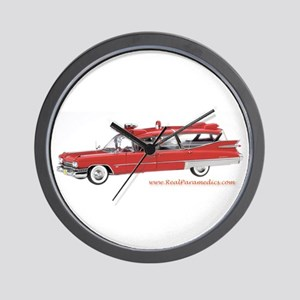 Old Red Ambulance Wall Clock