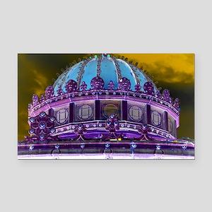 Carousel Purple Haze Rectangle Car Magnet