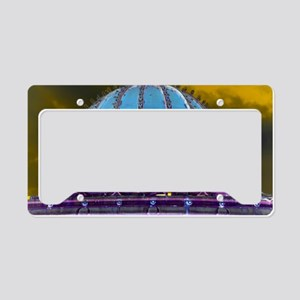 Carousel Purple Haze License Plate Holder