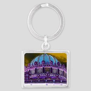 Carousel Purple Haze Landscape Keychain