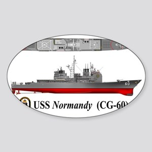 USS Normandy CG-60 Sticker (Oval)