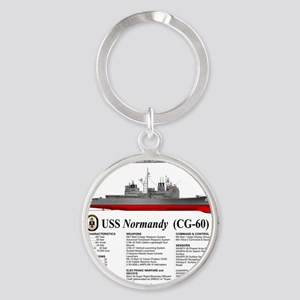 USS Normandy CG-60 Round Keychain
