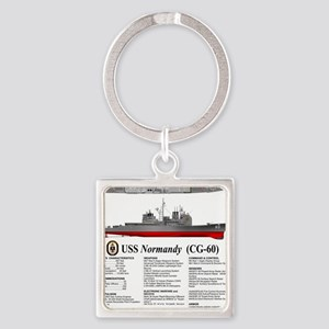 USS Normandy CG-60 Square Keychain