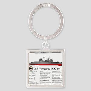 USS Normandy CG-60 Square Keychain
