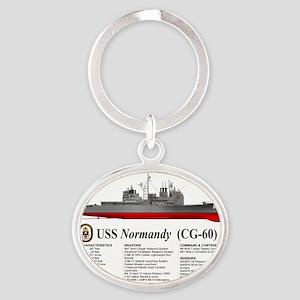 USS Normandy CG-60 Oval Keychain