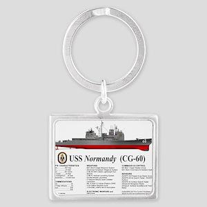 USS Normandy CG-60 Landscape Keychain