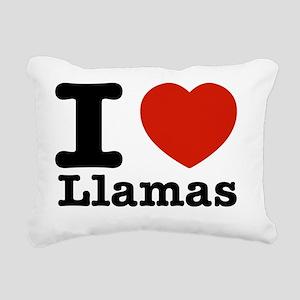 I love Llamas Rectangular Canvas Pillow