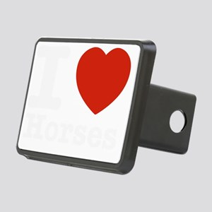 I love Horses Rectangular Hitch Cover