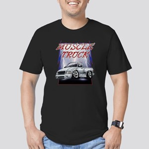 Silver G2 Lightning Men's Fitted T-Shirt (dark)