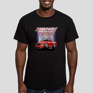 Red G@ Lightning Men's Fitted T-Shirt (dark)