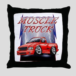 Red G@ Lightning Throw Pillow