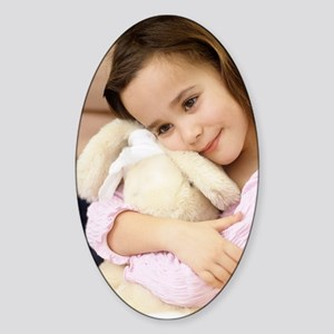 Young girl Sticker (Oval)