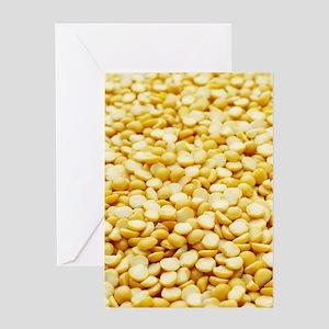 Yellow split peas Greeting Card