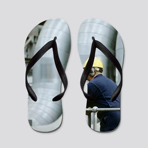 Worker in a power station Flip Flops